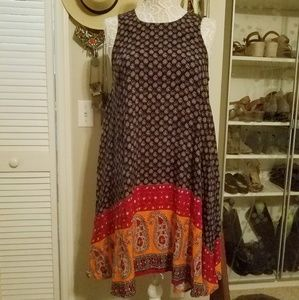 Beach Lunch Lounge Boho dress sz M